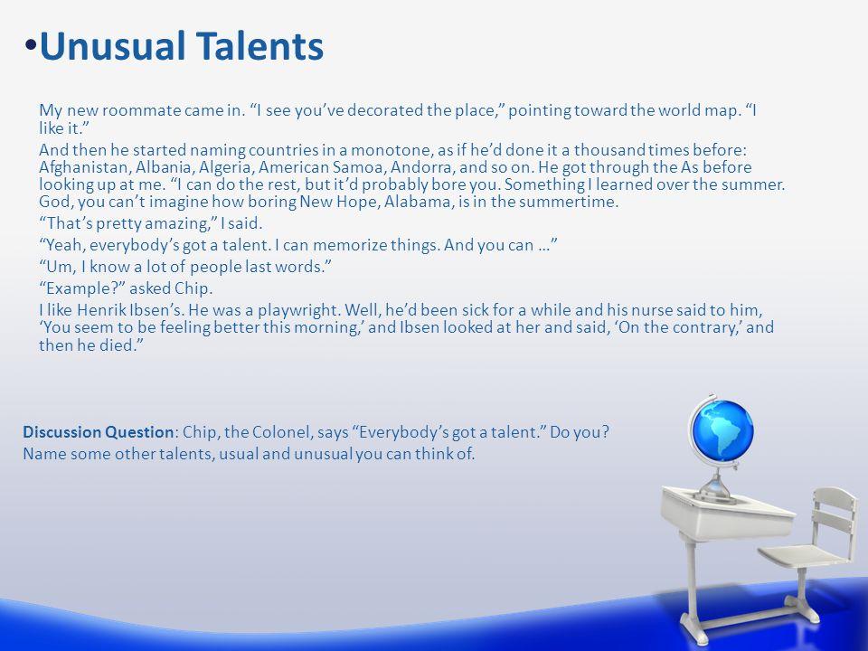 Unusual Talents