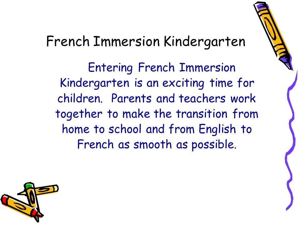 French Immersion Kindergarten