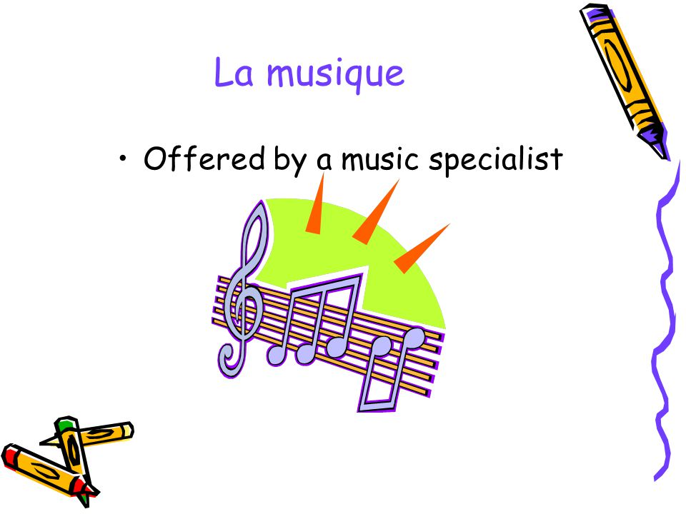 Offered by a music specialist