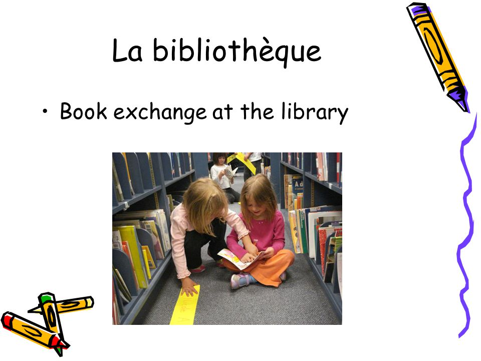 La bibliothèque Book exchange at the library