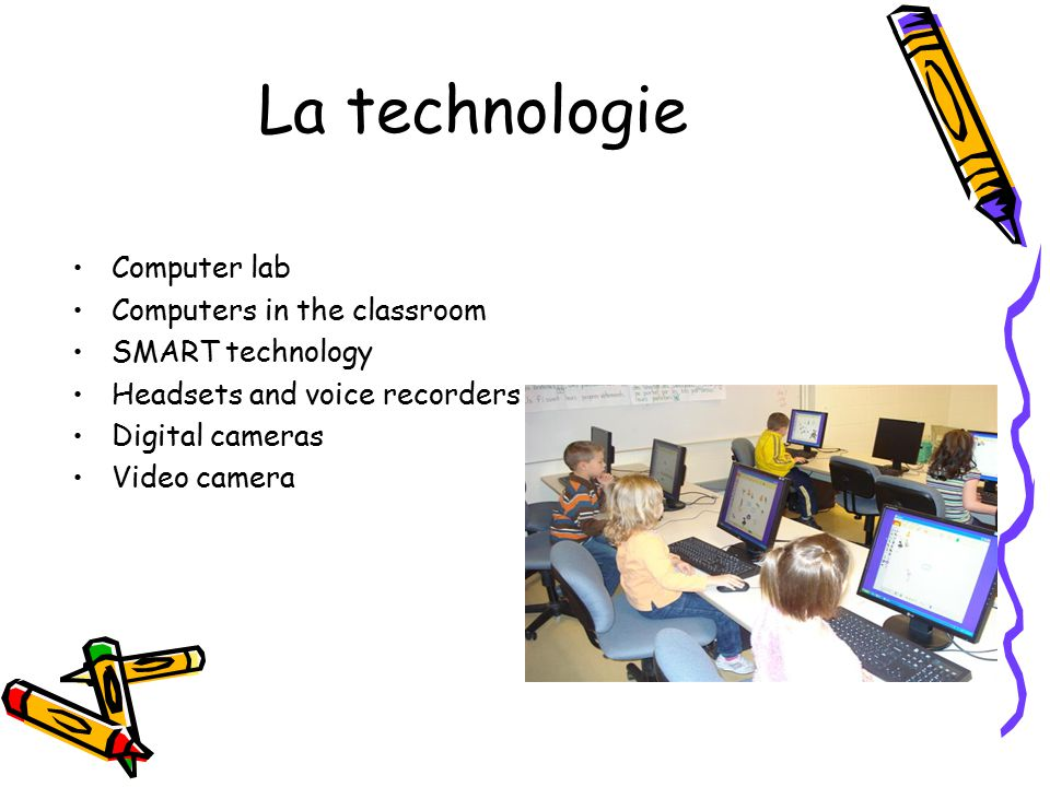 La technologie Computer lab Computers in the classroom