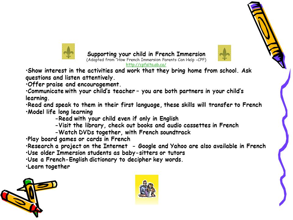 Supporting your child in French Immersion