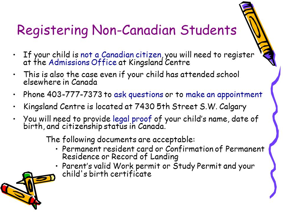 Registering Non-Canadian Students