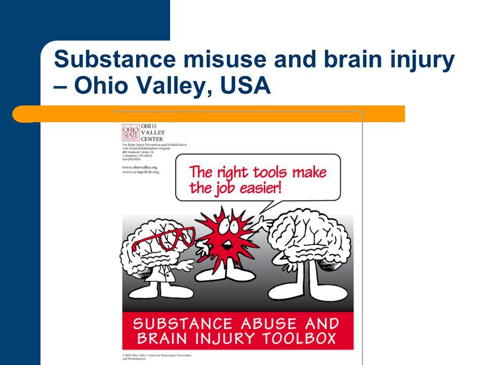 Substance misuse and brain injury – Ohio Valley, USA