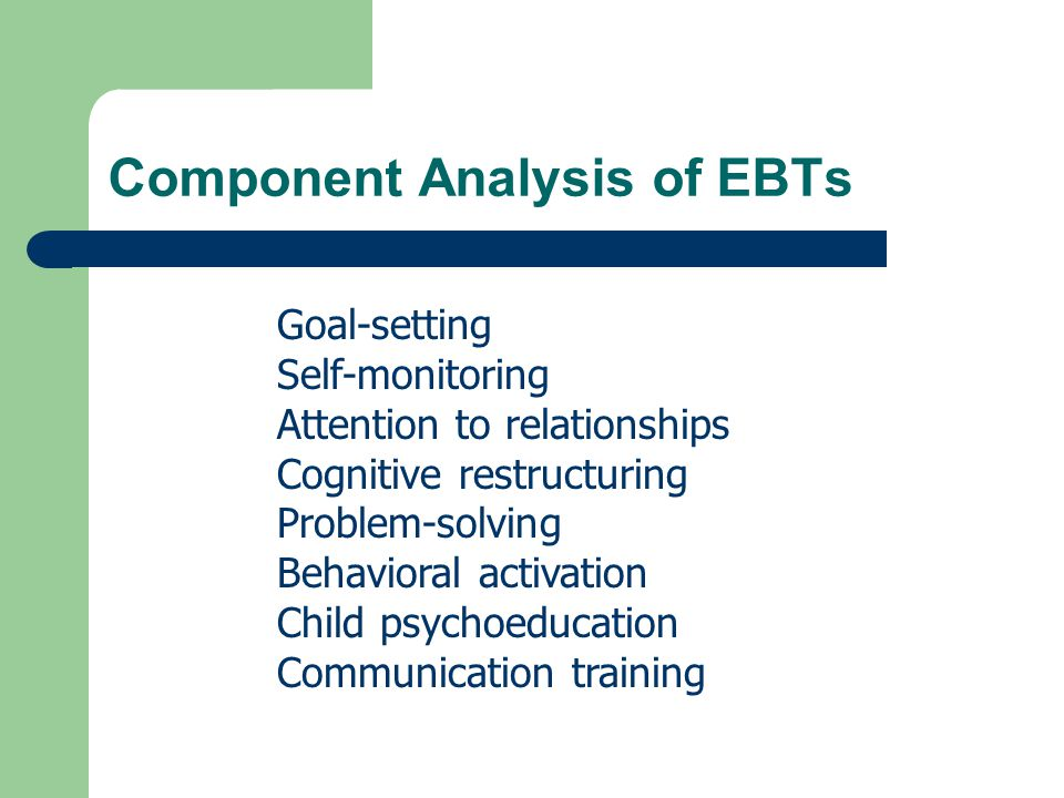 Component Analysis of EBTs