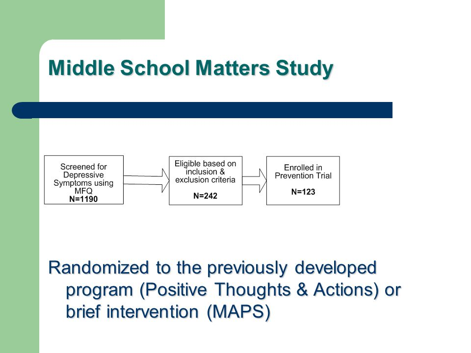 Middle School Matters Study
