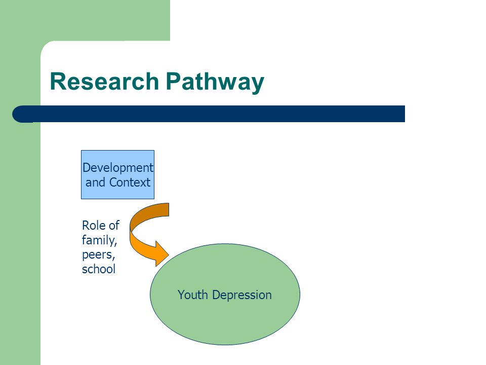 Research Pathway Development and Context Role of family, peers, school