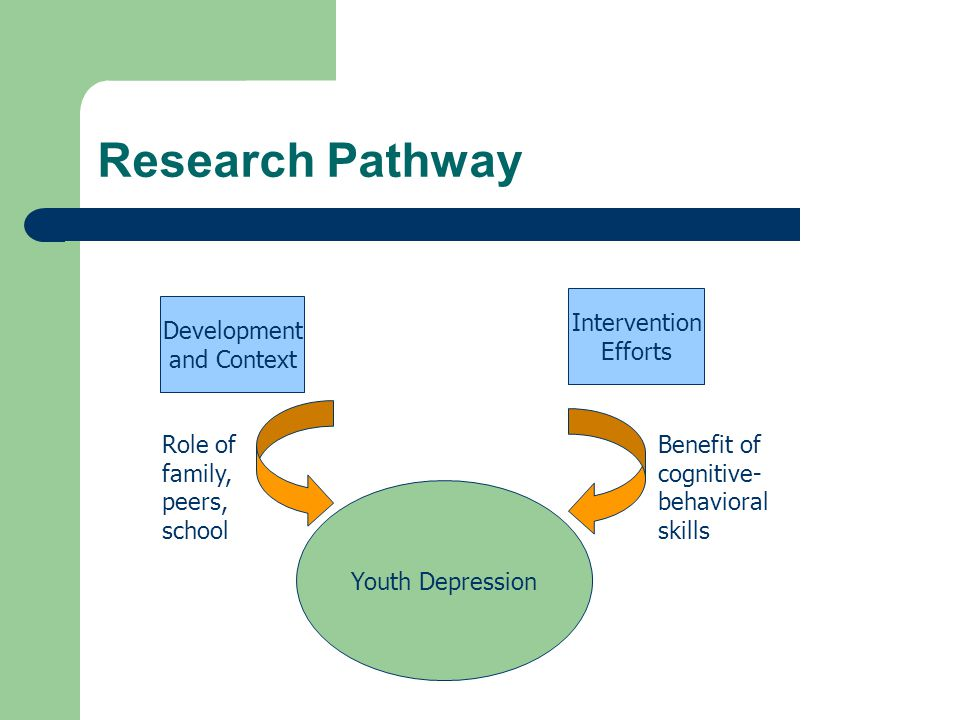 Research Pathway Intervention Efforts Development and Context