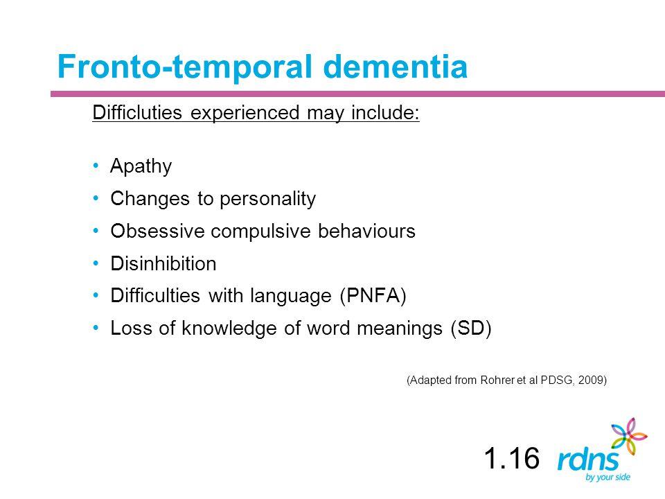 Fronto-temporal dementia
