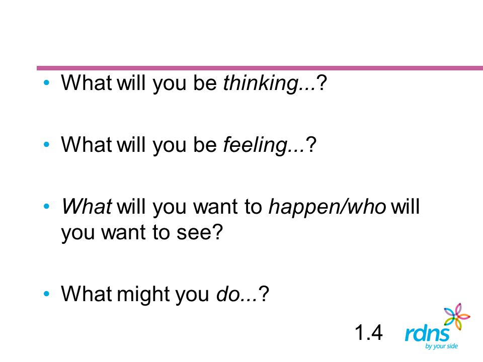 What will you be thinking...