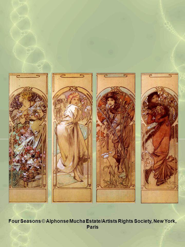 Four Seasons © Alphonse Mucha Estate/Artists Rights Society, New York, Paris