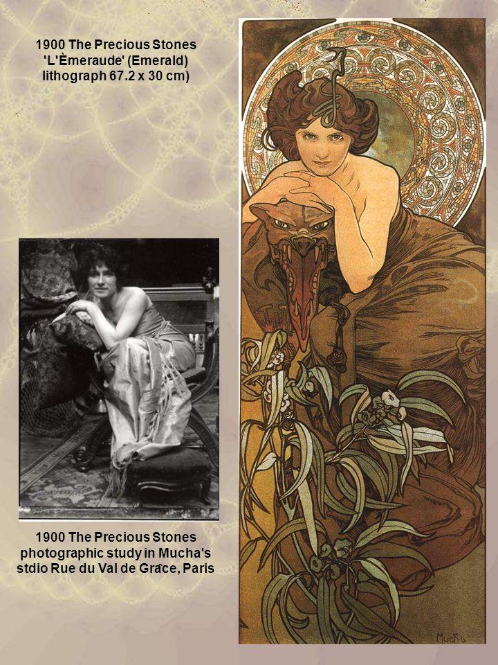 1900 The Precious Stones L Èmeraude (Emerald) lithograph 67