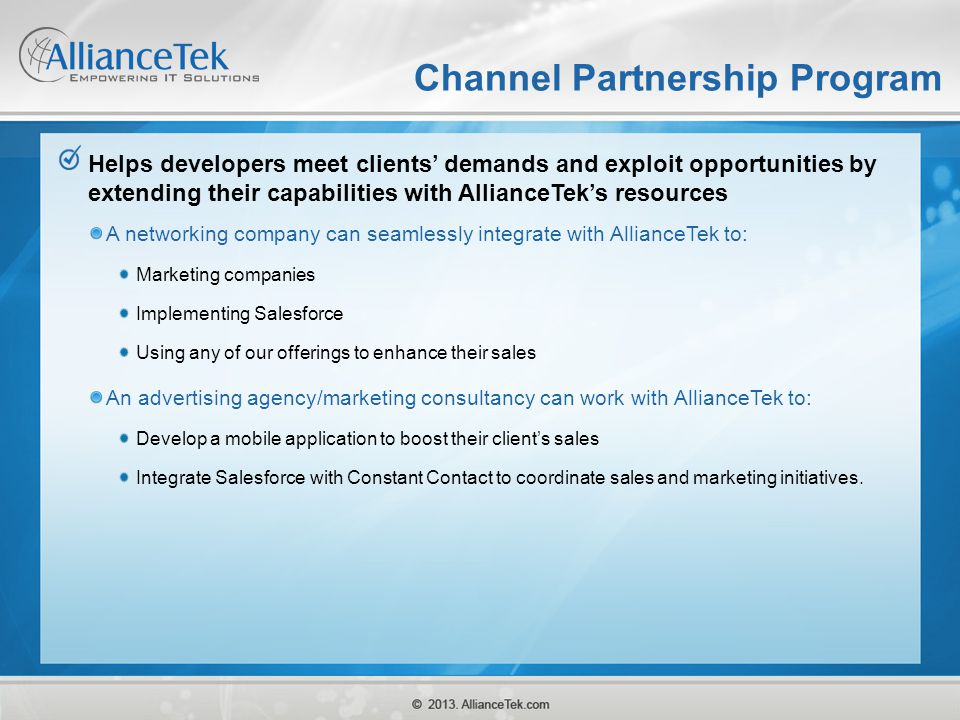 Channel Partnership Program