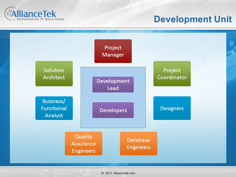 Development Unit Project Manager Solution Architect Project