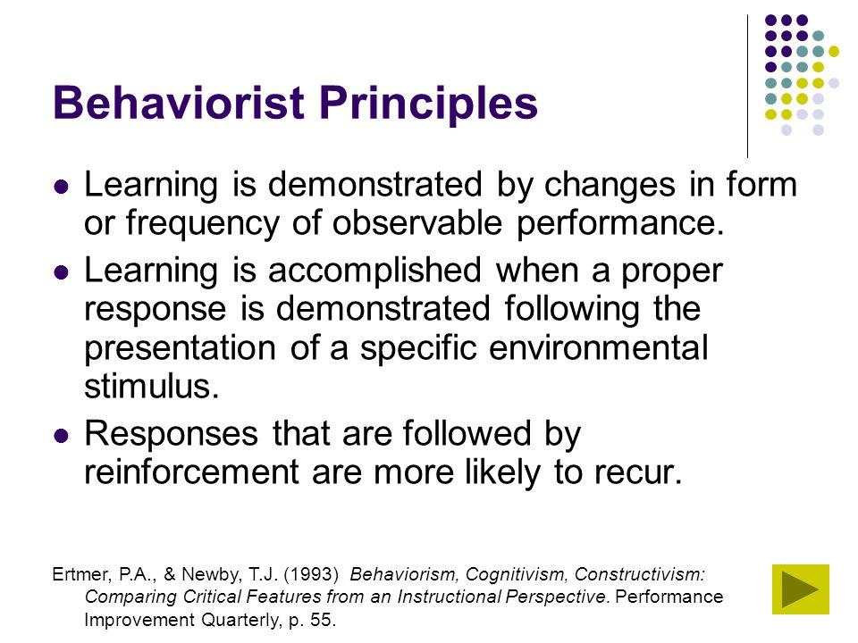 Behaviorist Principles