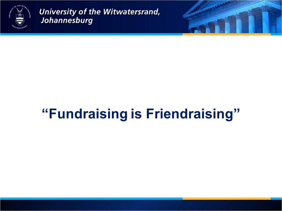 Fundraising is Friendraising