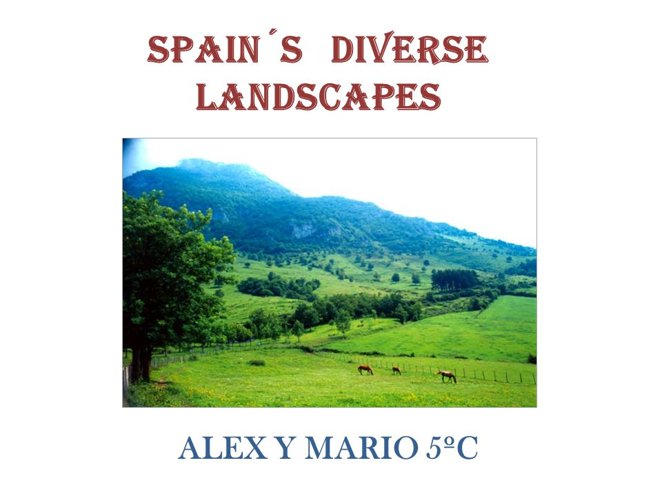 Spain´s diverse landscapes