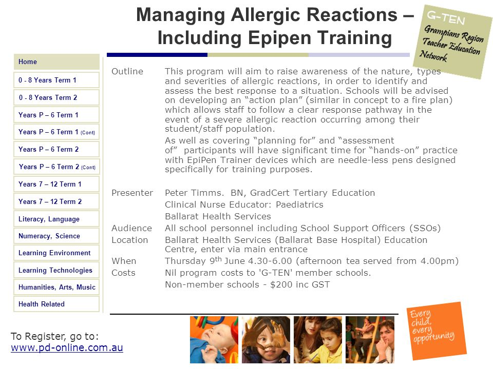 Managing Allergic Reactions – Including Epipen Training