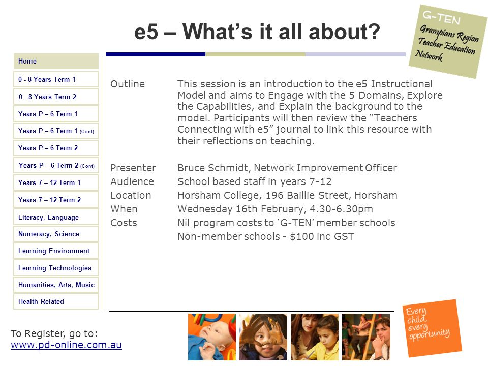 e5 – What's it all about