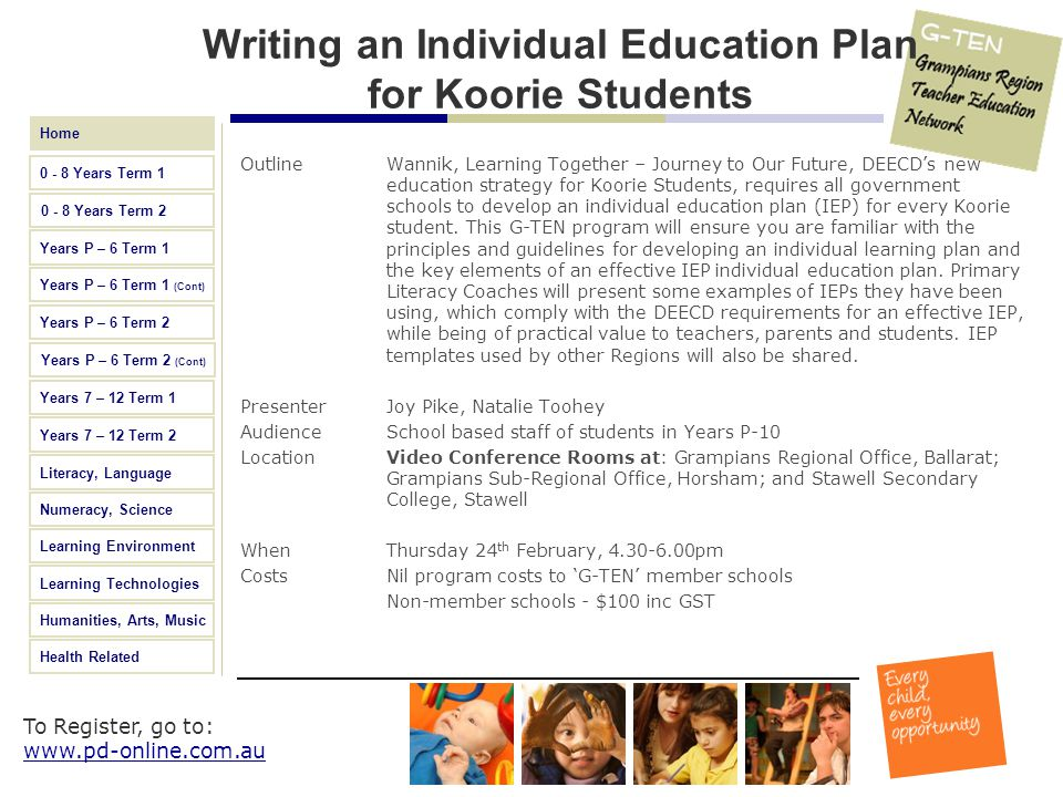 Writing an Individual Education Plan for Koorie Students