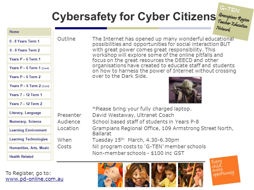 Cybersafety for Cyber Citizens