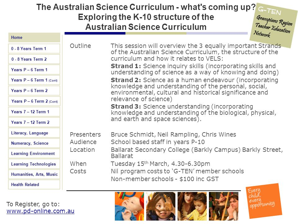 The Australian Science Curriculum - what s coming up
