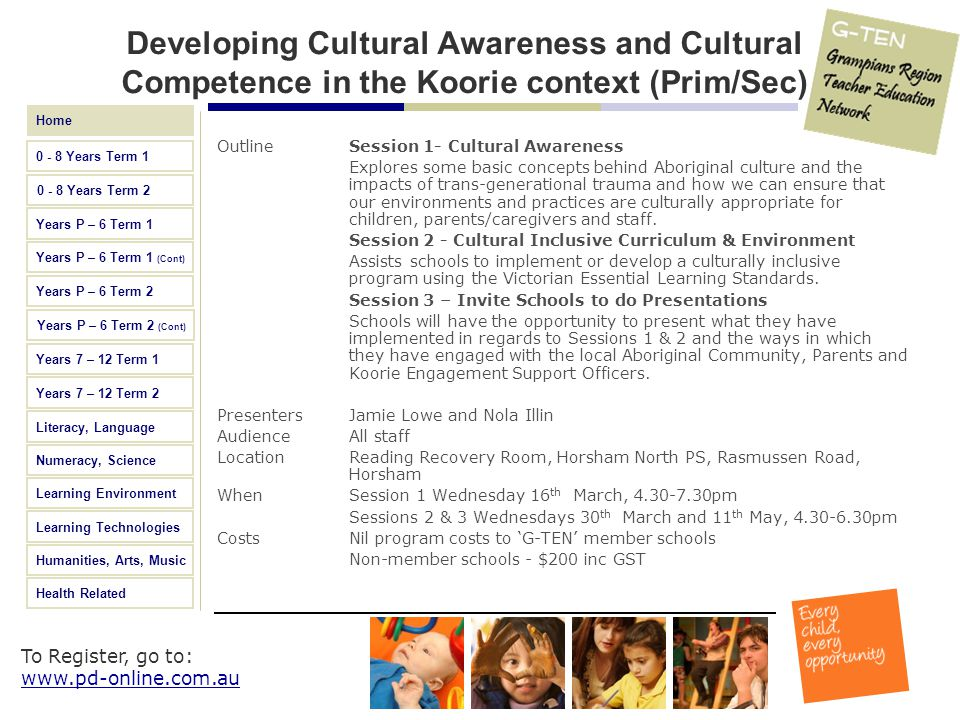 Developing Cultural Awareness and Cultural Competence in the Koorie context (Prim/Sec)