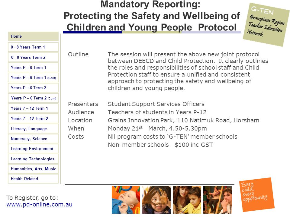 Mandatory Reporting: Protecting the Safety and Wellbeing of Children and Young People Protocol