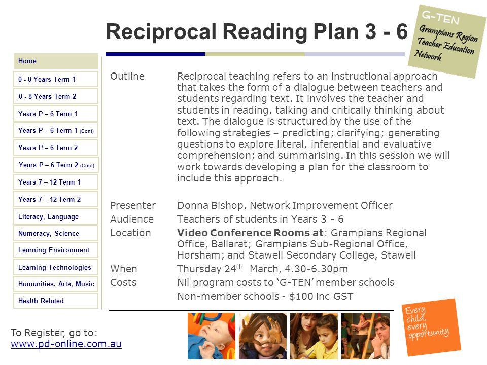 Reciprocal Reading Plan 3 - 6