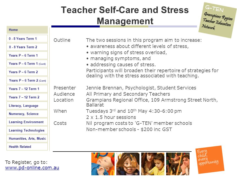 Teacher Self-Care and Stress Management