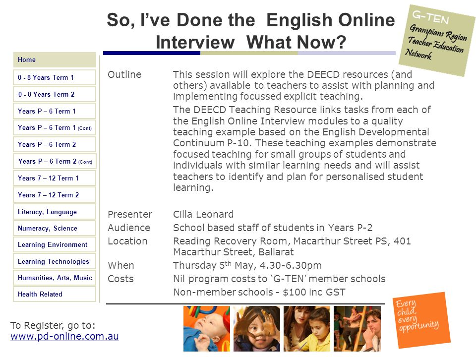 So, I've Done the English Online Interview What Now