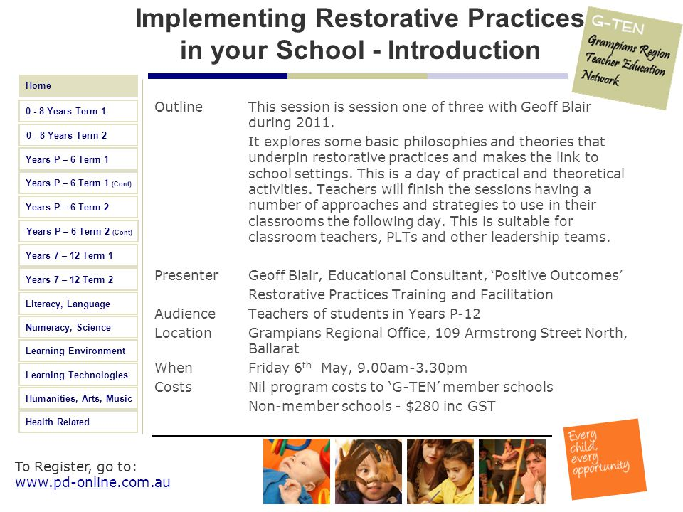 Implementing Restorative Practices in your School - Introduction