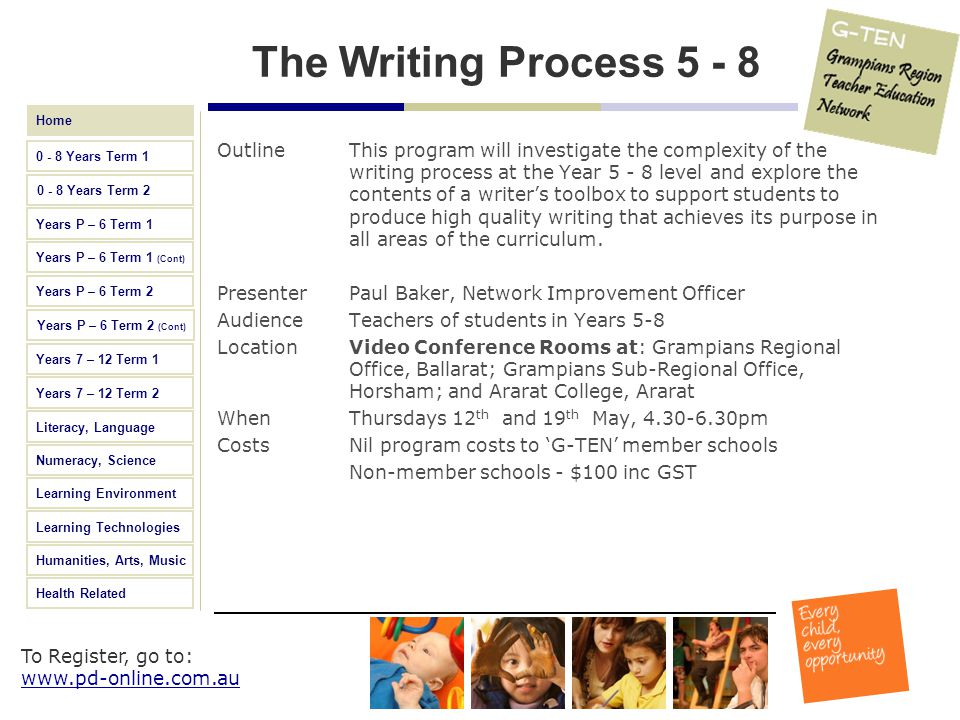 The Writing Process 5 - 8