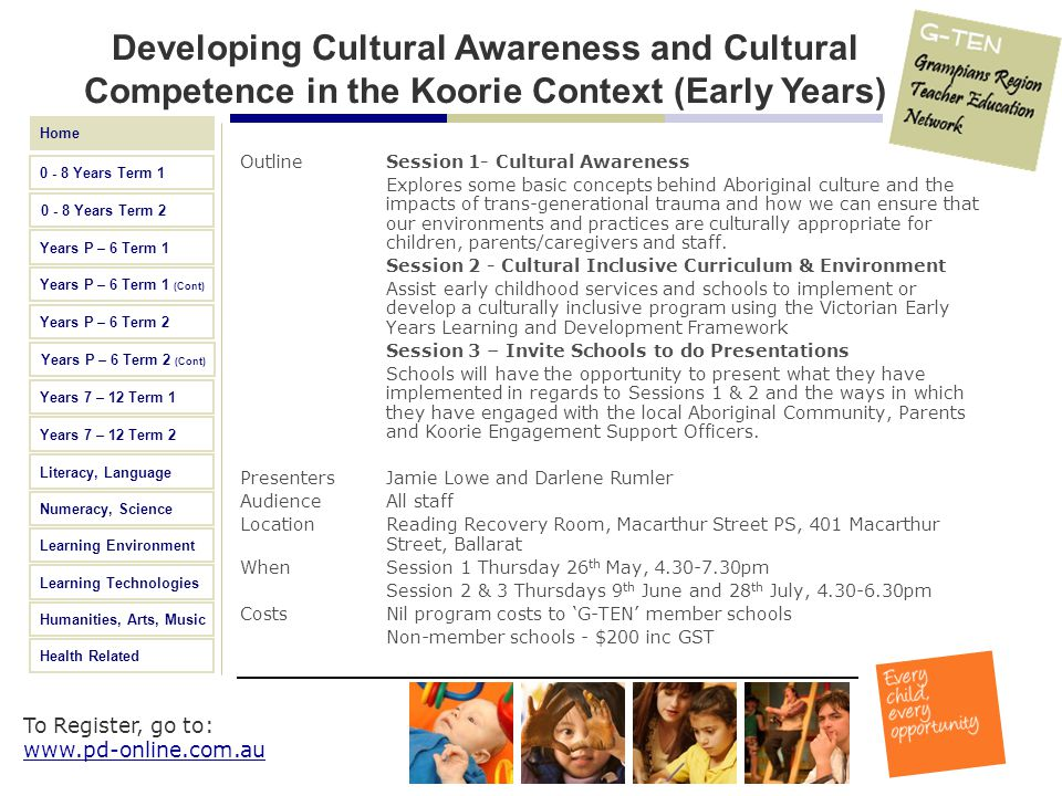 Developing Cultural Awareness and Cultural Competence in the Koorie Context (Early Years)