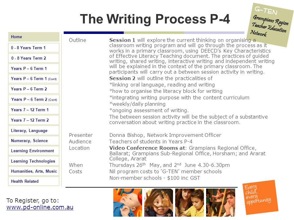 The Writing Process P-4