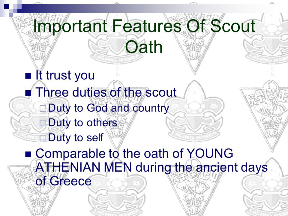 Important Features Of Scout Oath