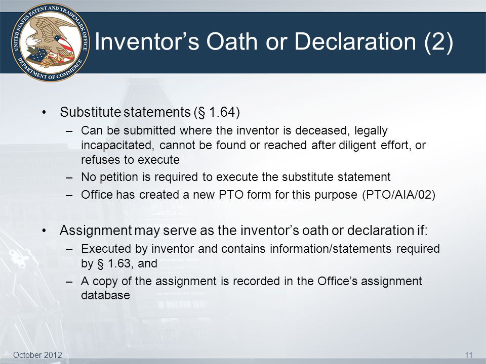 Inventor's Oath or Declaration (2)