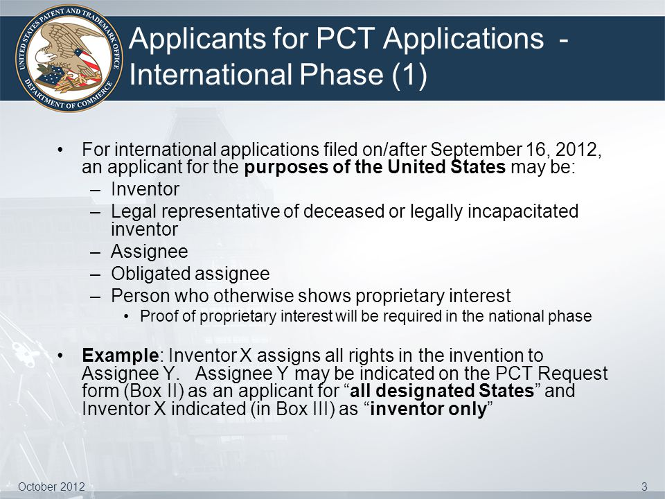 Applicants for PCT Applications - International Phase (1)