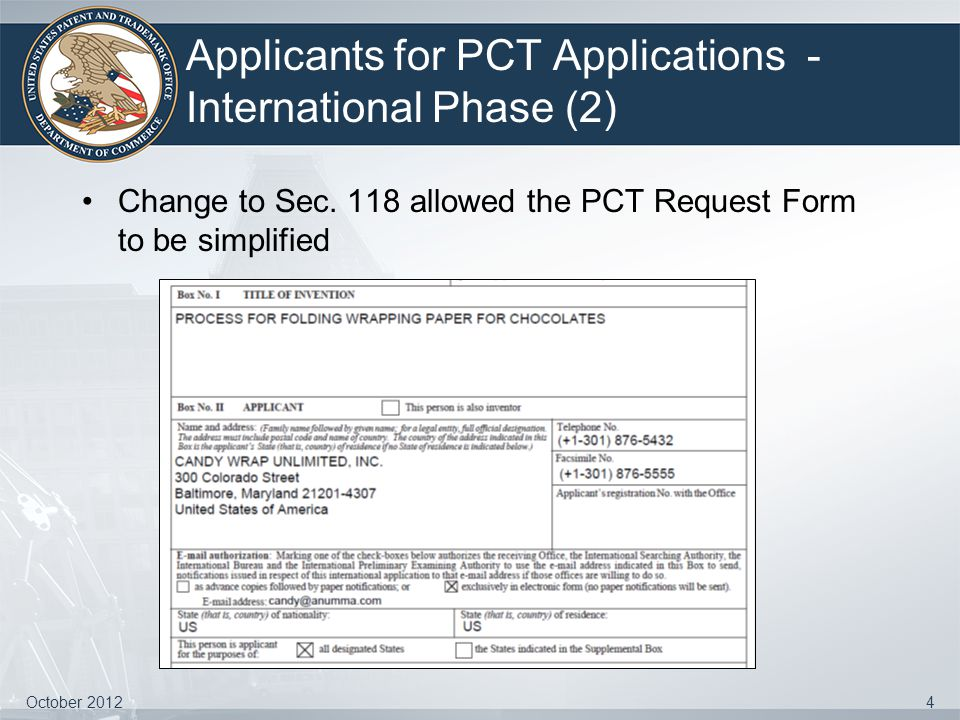Applicants for PCT Applications - International Phase (2)