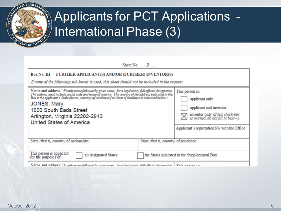 Applicants for PCT Applications - International Phase (3)