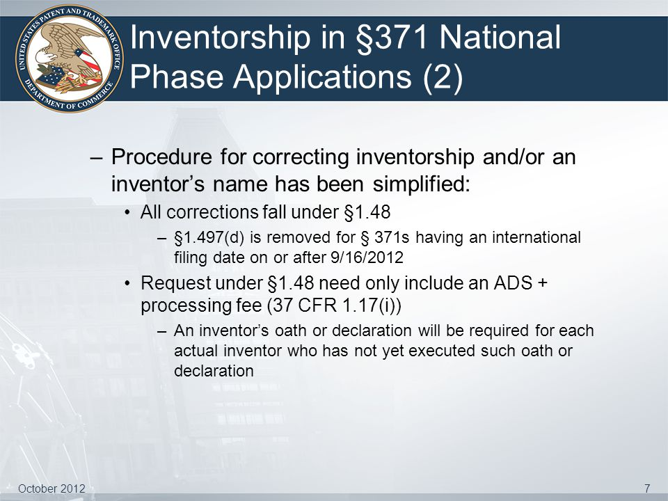 Inventorship in §371 National Phase Applications (2)