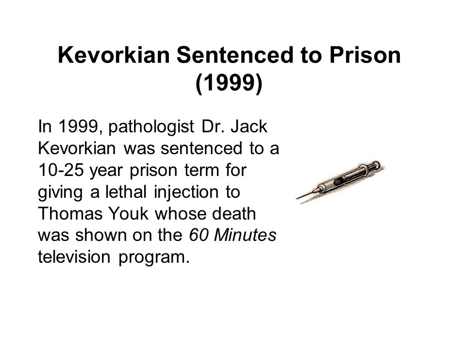 Kevorkian Sentenced to Prison (1999)