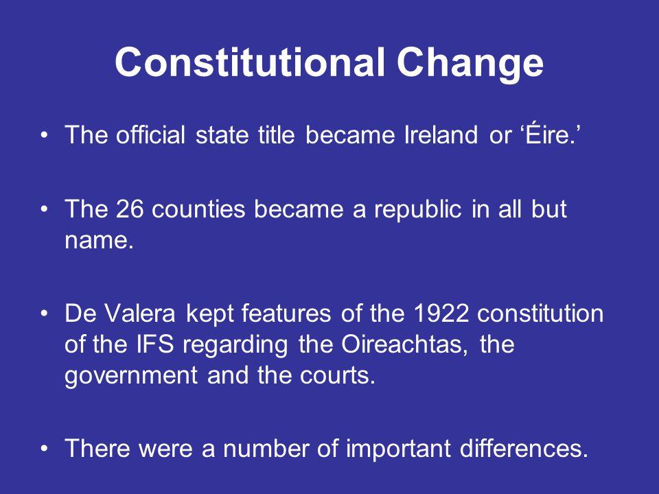 Constitutional Change