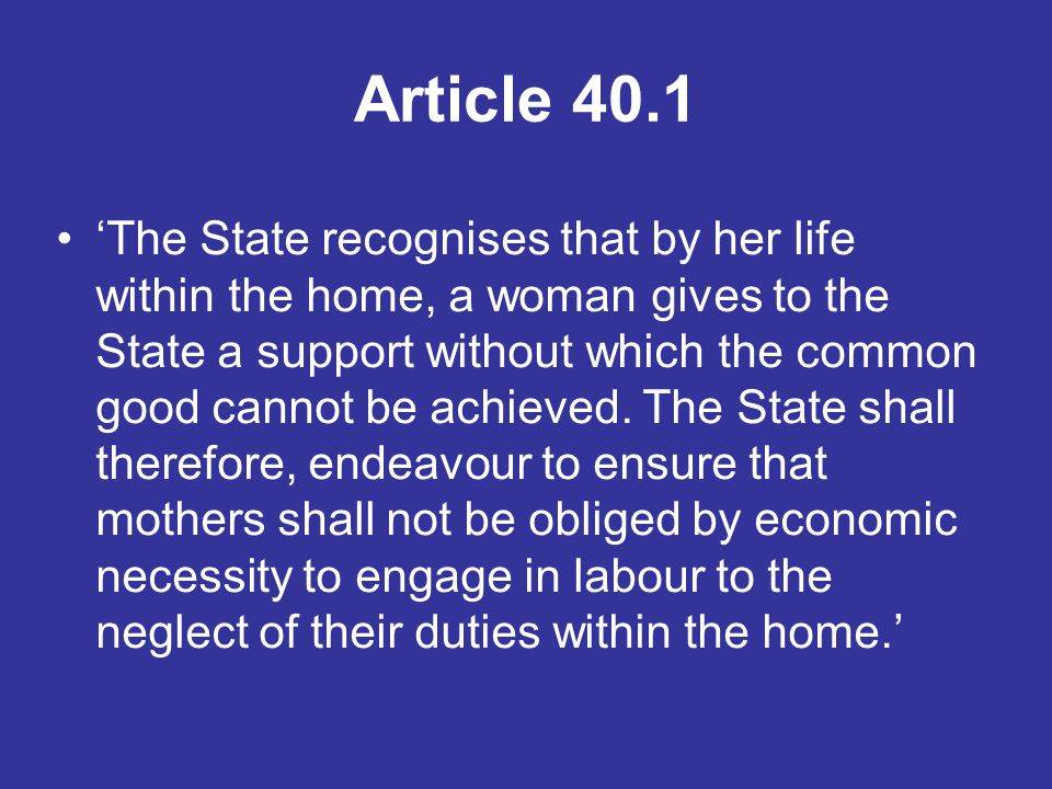 Article 40.1