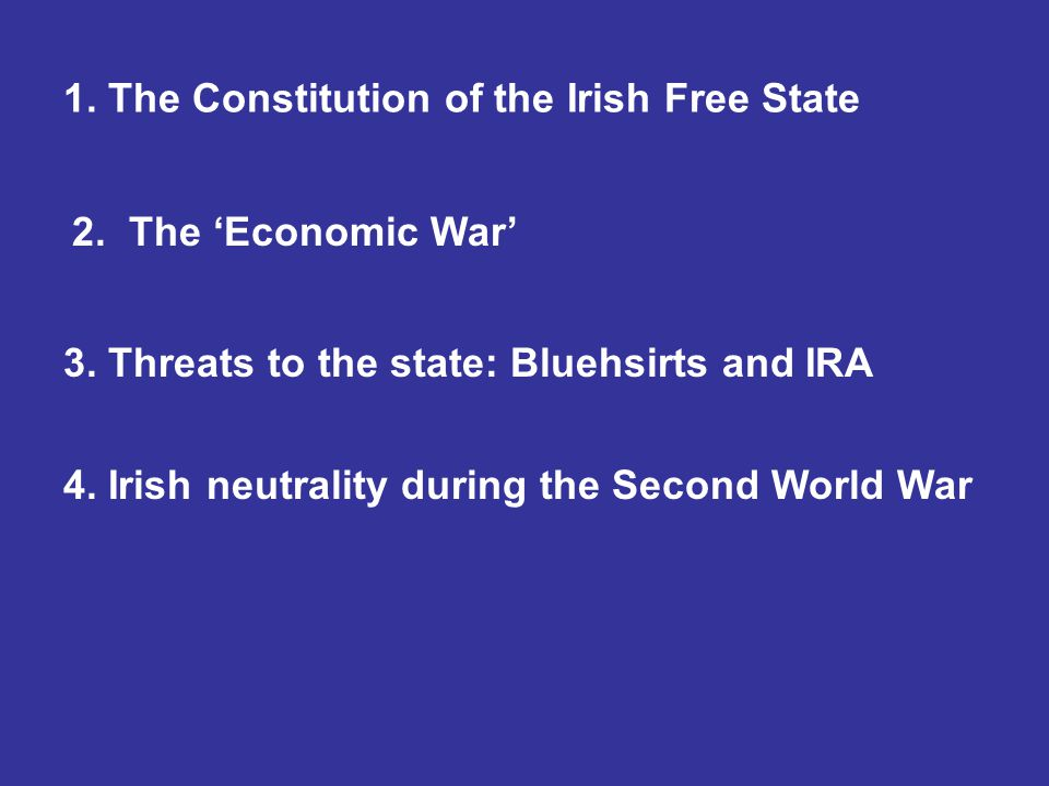 1. The Constitution of the Irish Free State