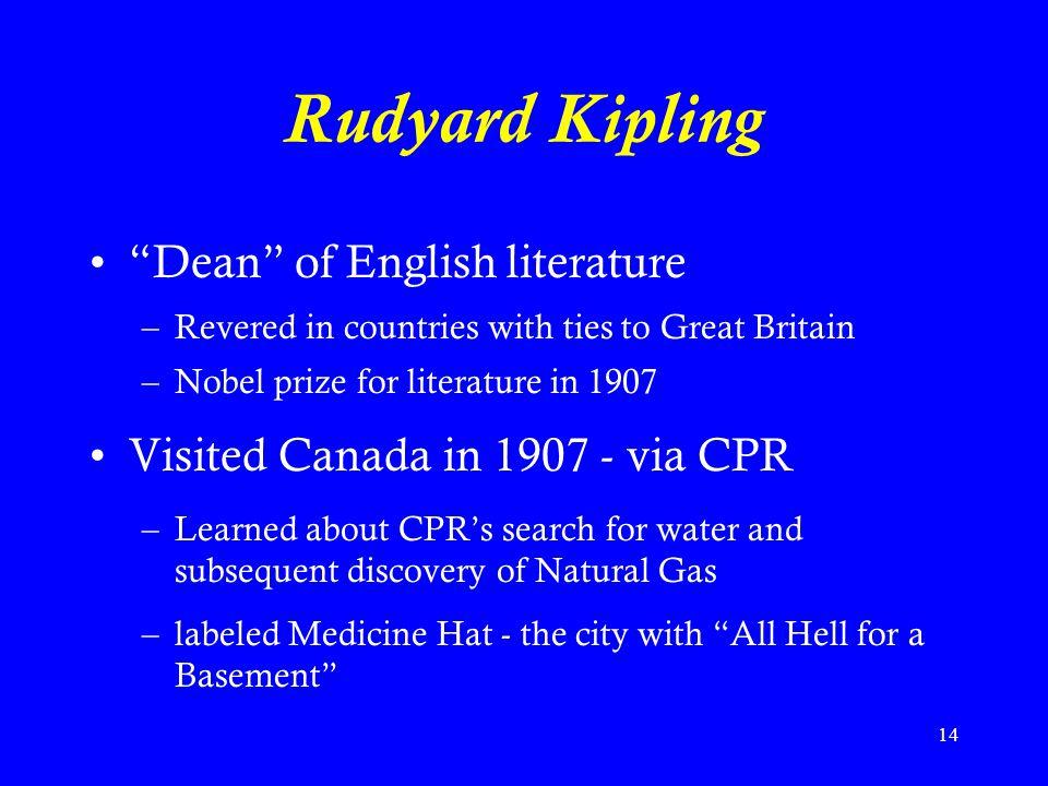 Rudyard Kipling Dean of English literature