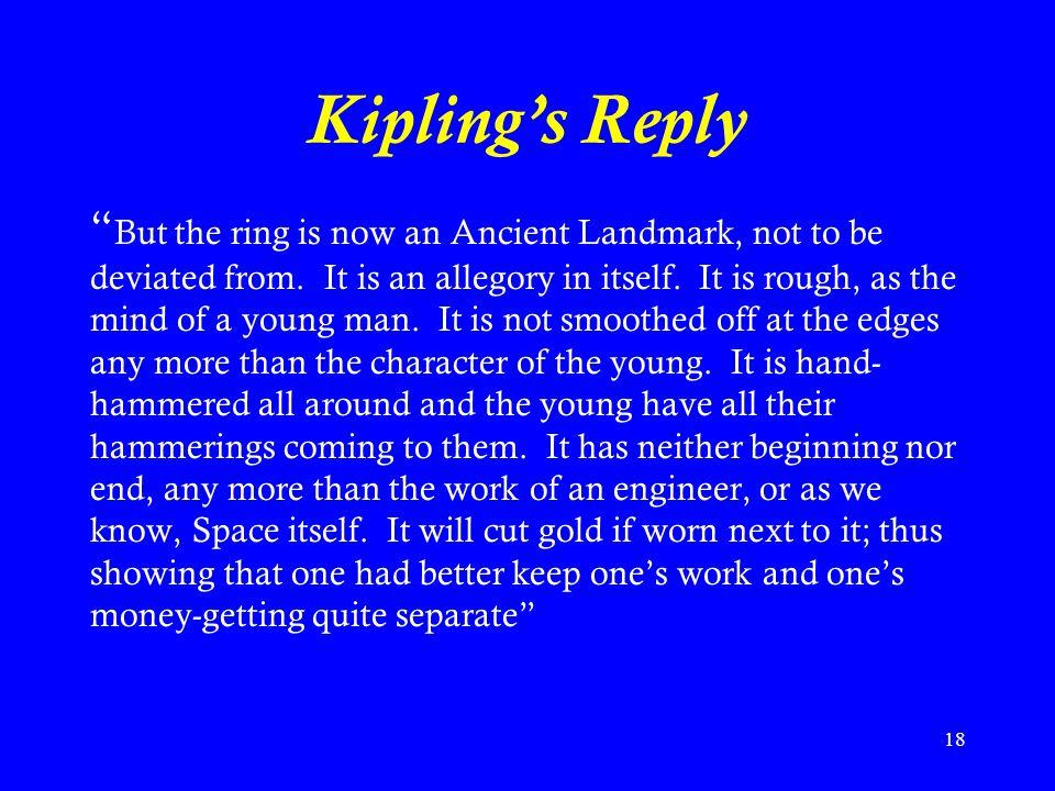 Kipling's Reply