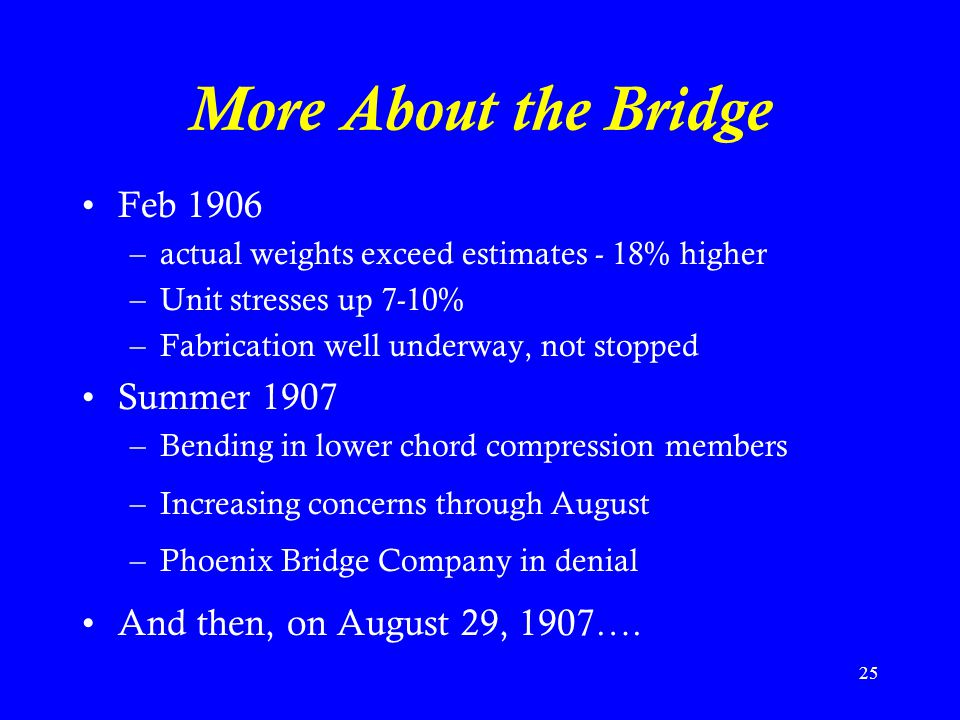More About the Bridge Feb 1906 Summer 1907