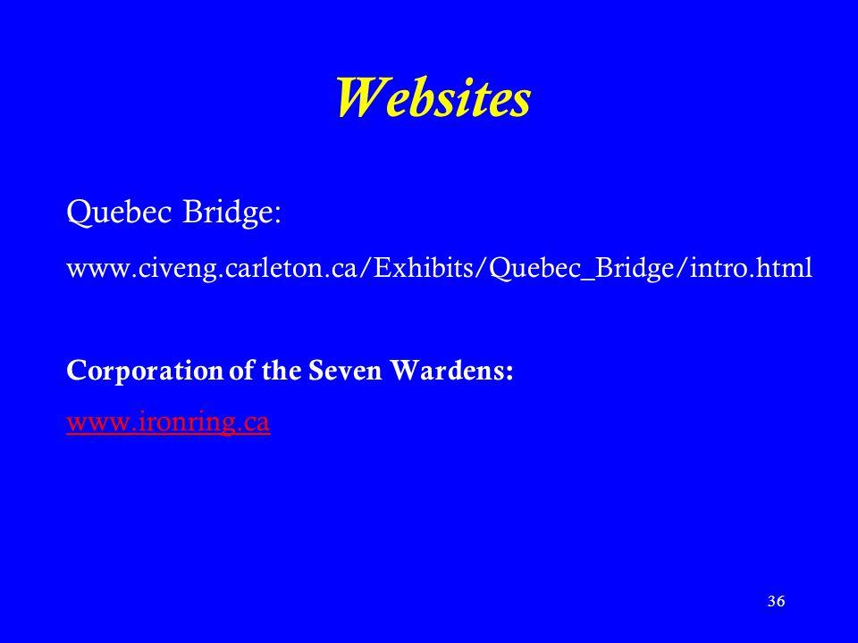 Websites Quebec Bridge: