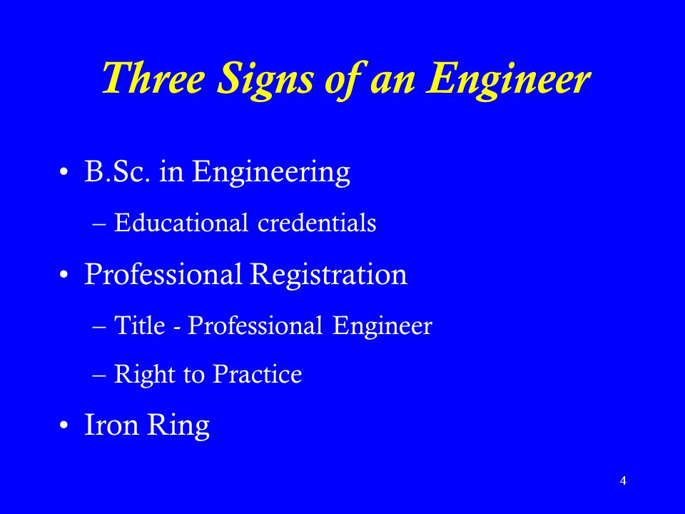 Three Signs of an Engineer